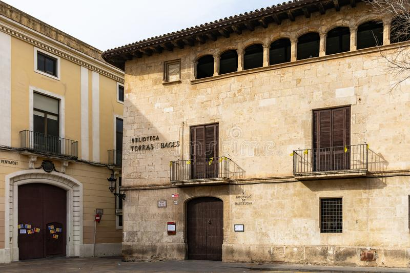 Torras I Bages arkiv i Vilafranca del Penedes, Catalonia, Spanien royaltyfria foton