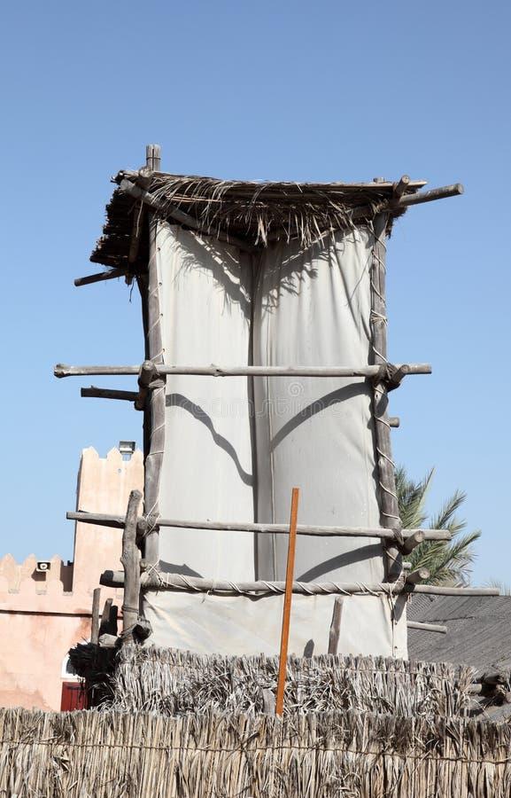Torre árabe del viento fotografía de archivo libre de regalías