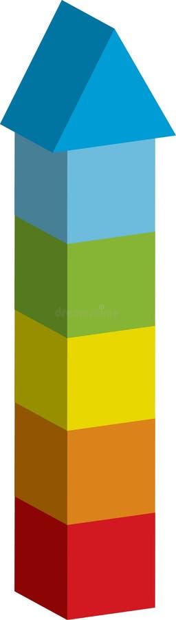 Torre stock de ilustración