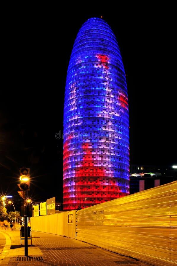 Torre Agbar在巴塞罗那,西班牙 图库摄影