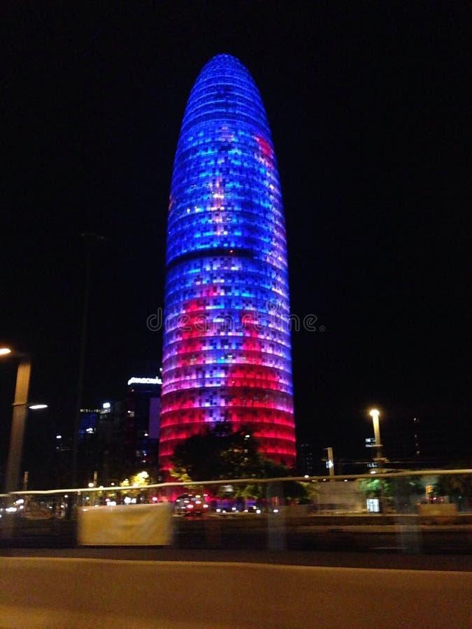 Torre Agbar巴塞罗那 库存照片