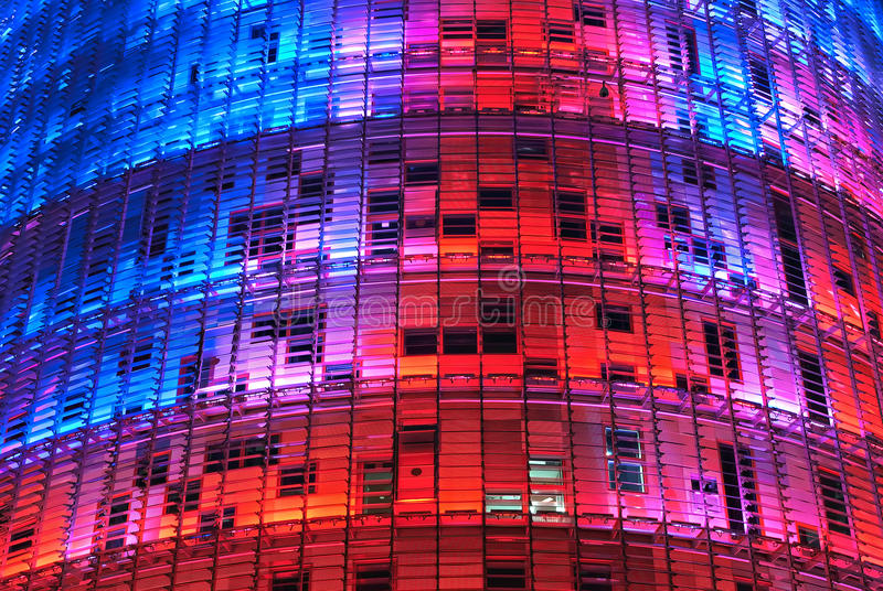 Torre Agbar, Barcelona. The Torre Agbar, named after its owners, the Agbar Group, is a 38-story tower designed by French architect Jean Nouvel in Barcelona royalty free stock image