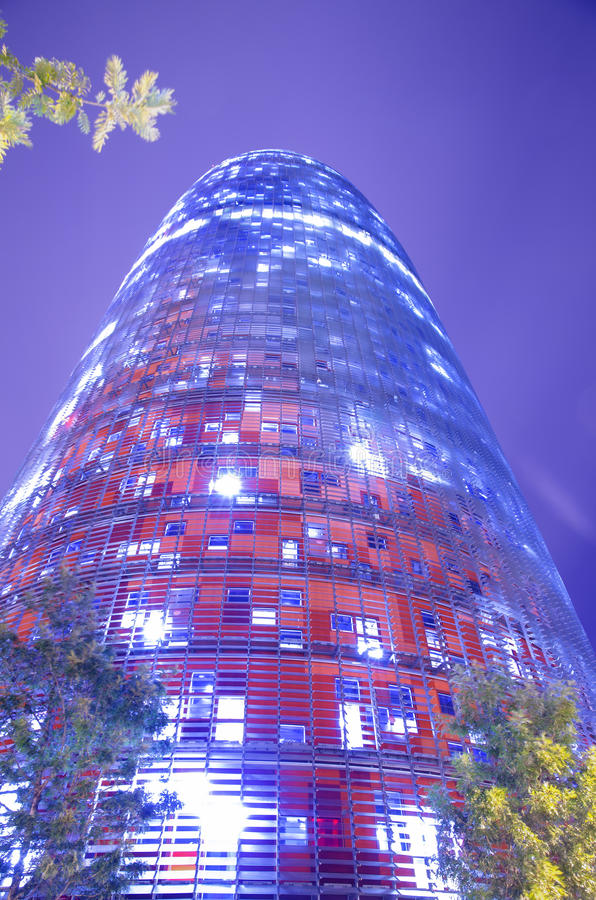 Download Torre Agbar in Barcelona stock image. Image of design - 27972263