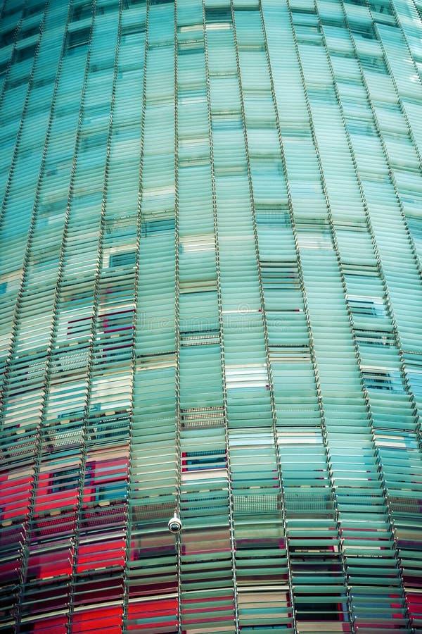 Torre agbar Barcelona. Katalonien, Spanien. stockbild