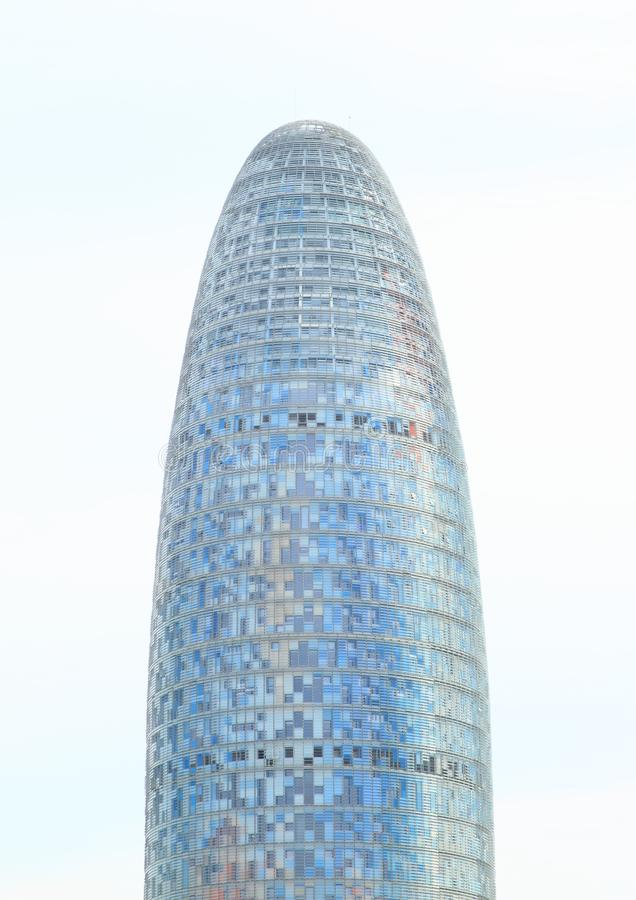 Torre Agbar in Barcelona. Modern building Torre Agbar or Torre Glòries in Barcelona, Spain royalty free stock images