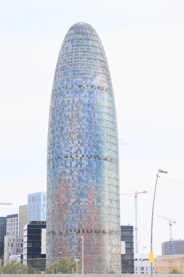 Torre Agbar in Barcelona. Modern building Torre Agbar or Torre Glòries in Barcelona, Spain stock images