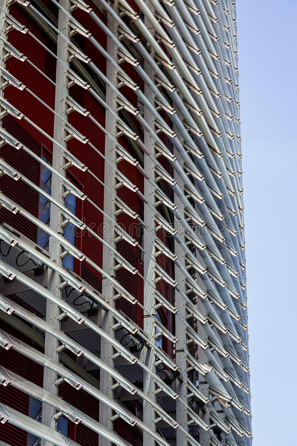 Torre Agbar in Barcelona stock photo