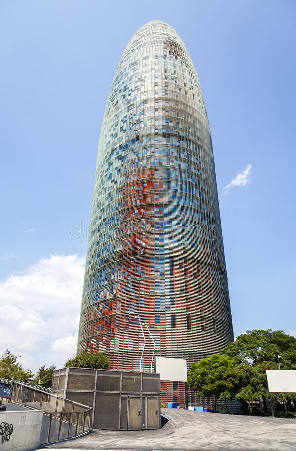 Torre Agbar in Barcelona stock image