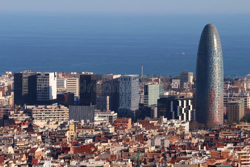 Torre Agbar - Barcelona, Spain royalty free stock photo