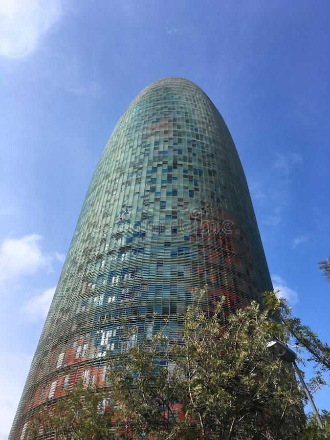 Torre Agbar stock photography