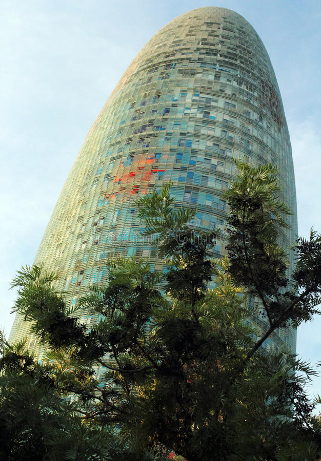 Torre Agbar, Barcelone Espagne photographie stock