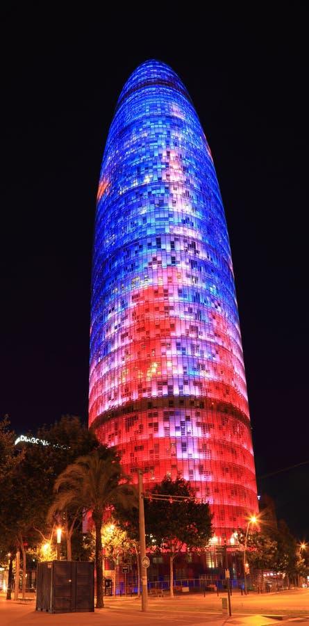 Torre Agbar- Bracelona 库存照片