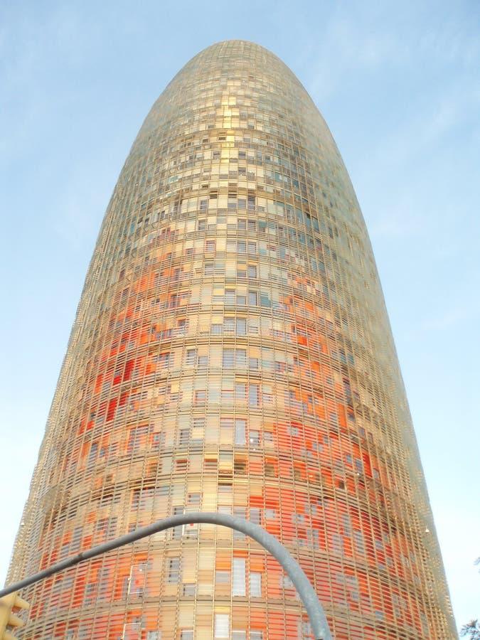 Torre Agbar de Barcelona fotos de stock royalty free