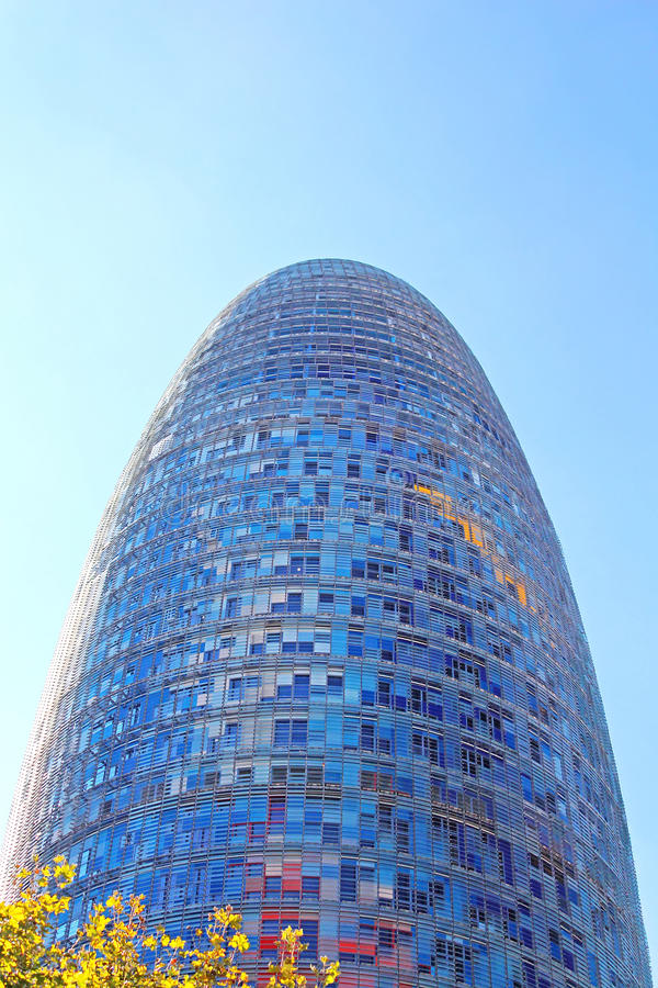 Torre Agbar in Technological District in Barcelona, Spain stock images