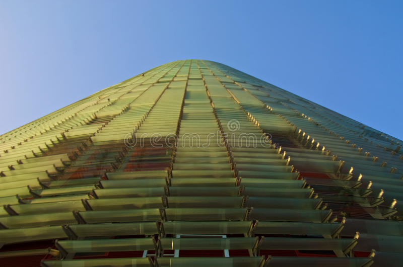 Torre Agbar Tower. Tore Agbar tower in Barcelona designed by Jean Nouvel stock image