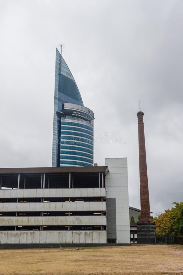 Torre Antel skyskrapa i Montevideo royaltyfri fotografi