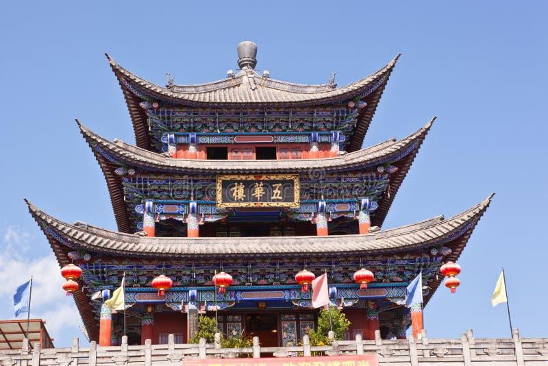 Torre antiga da porta da cidade de Dali imagens de stock royalty free