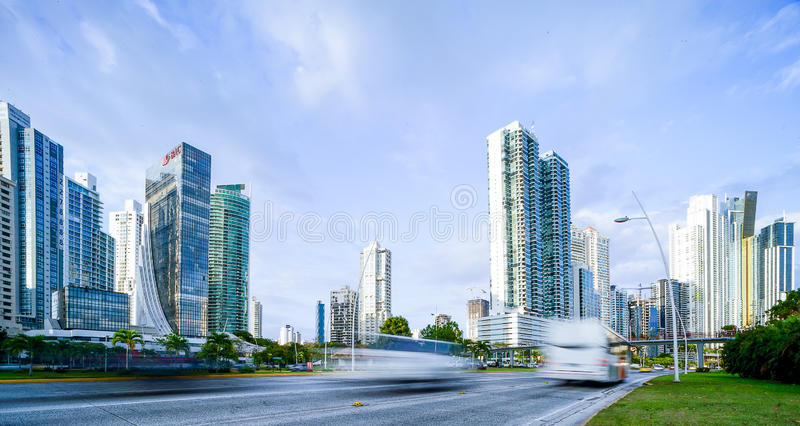 Torre bac at cinta costera 3 in panama city pty royalty free stock image