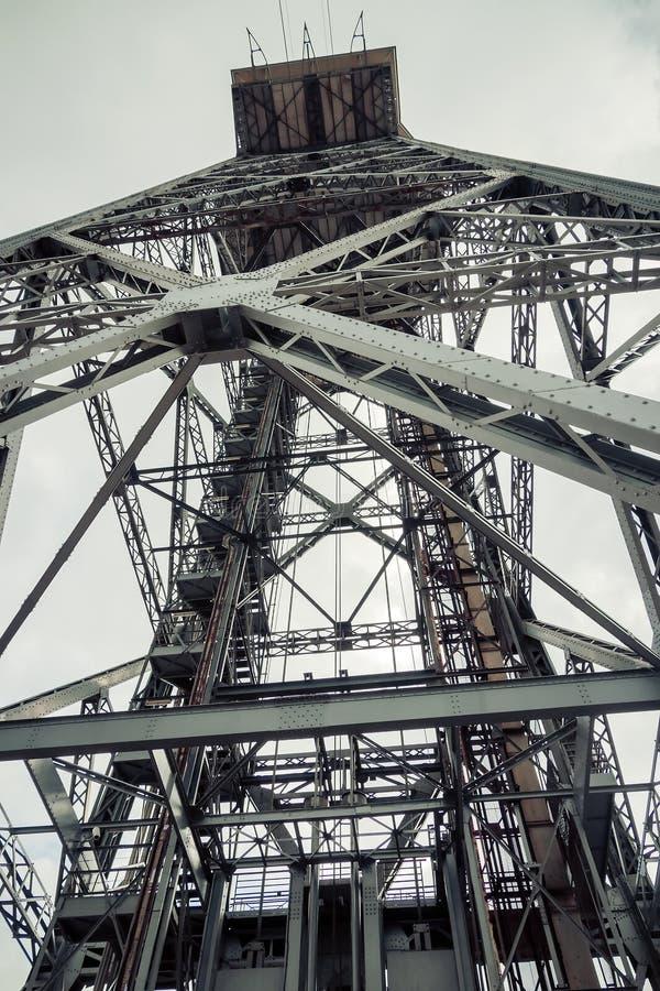 Torre Barcelona del teleférico. Cataluña, España. fotografía de archivo libre de regalías