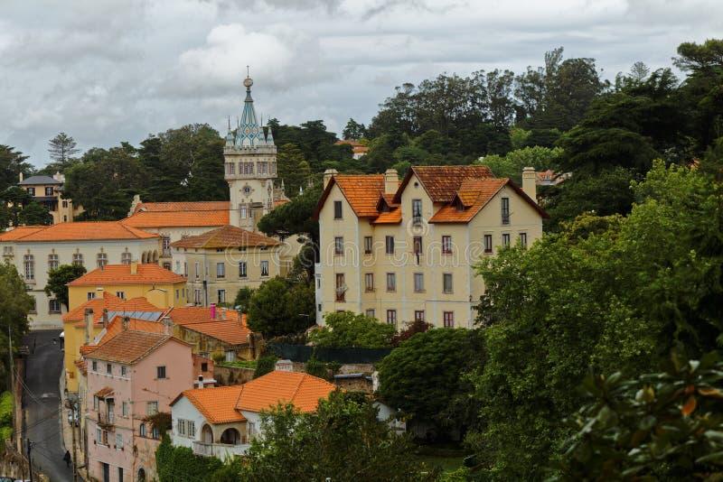 Torre barrocco di municipio di Sintra, Portogallo immagini stock libere da diritti