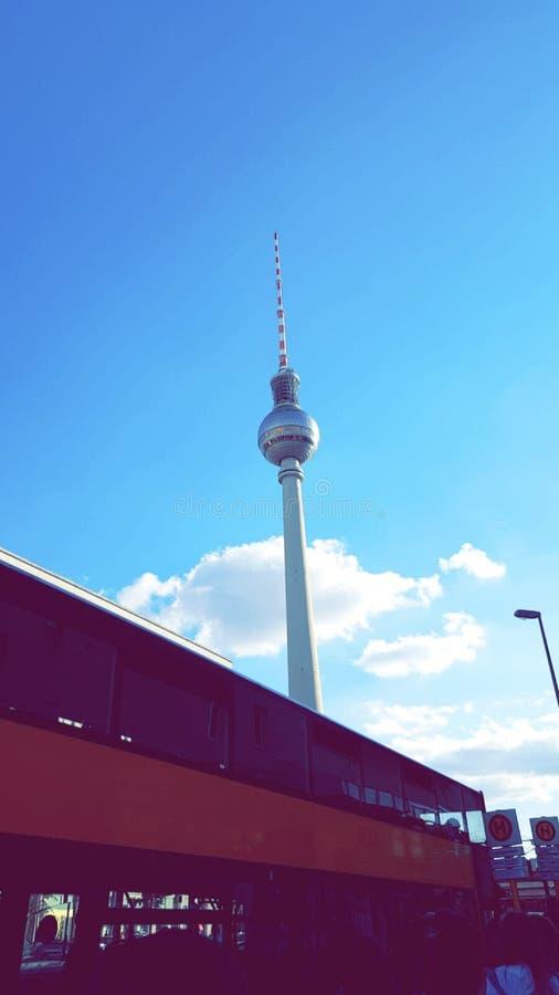 Torre Berlín de la televisión fotos de archivo libres de regalías