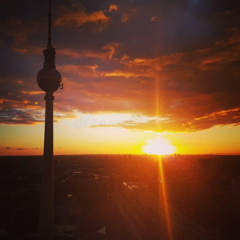 Torre Berlín de Televison imágenes de archivo libres de regalías