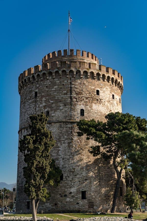 Torre blanca de Salónica, Grecia, Europa imagenes de archivo