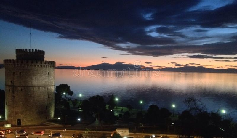 Torre blanca Salónica fotografía de archivo libre de regalías