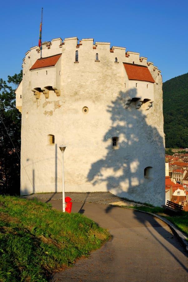 Torre branca, Brasov, Romania fotografia de stock