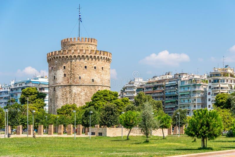 A torre branca de Tessalónica fotos de stock royalty free