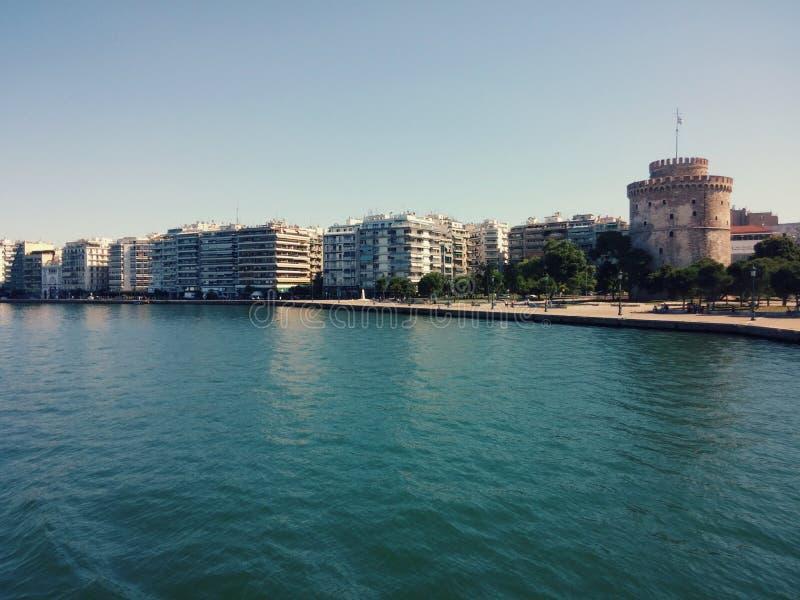 A torre branca de Tessalónica imagem de stock royalty free