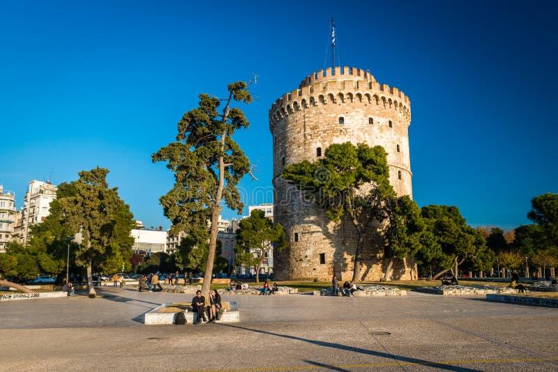 Torre branca de Tessalónica, Grécia imagem de stock