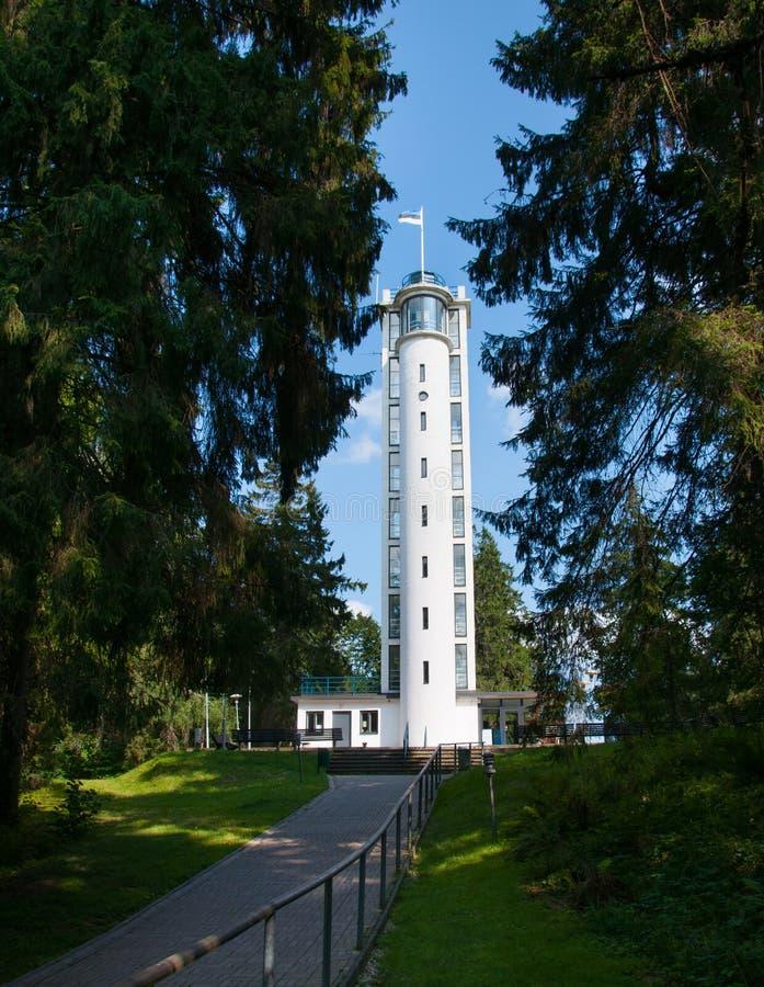 Torre branca Haanja Estônia imagem de stock royalty free