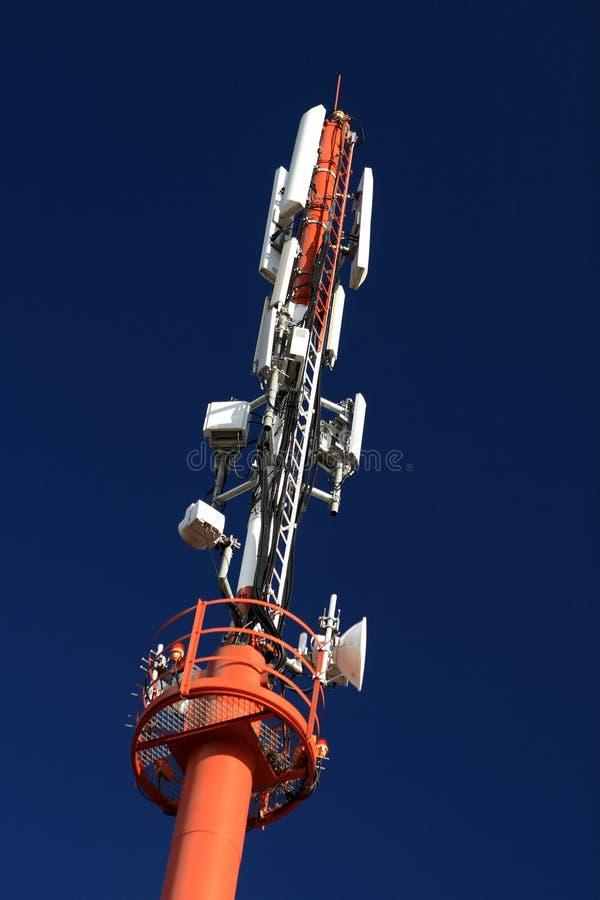 Torre celular #3 de la microonda foto de archivo libre de regalías