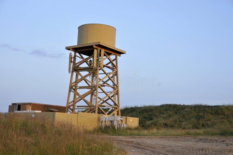 Torre celular do tanque de água fotografia de stock