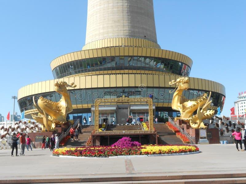Torre central de la televisión imagen de archivo