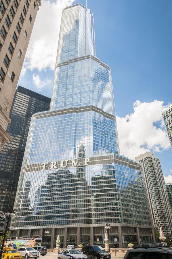 TORRE CHICAGO DO TRUNFO imagem de stock royalty free