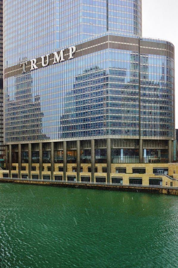 A torre Chicago do trunfo fotos de stock