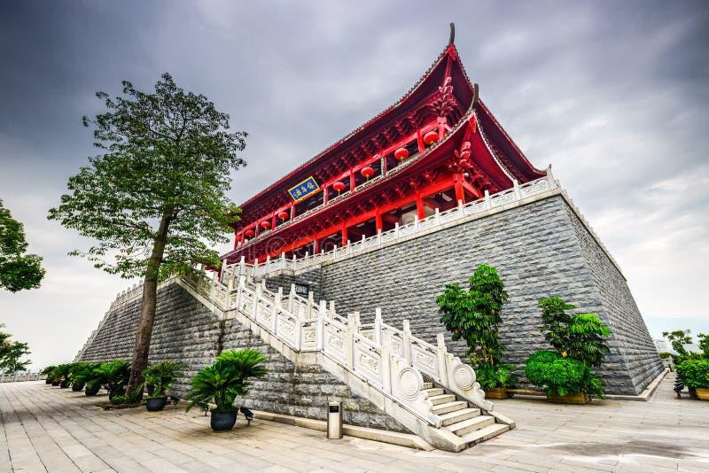 Torre chinesa histórica em Fuzhou, China fotos de stock