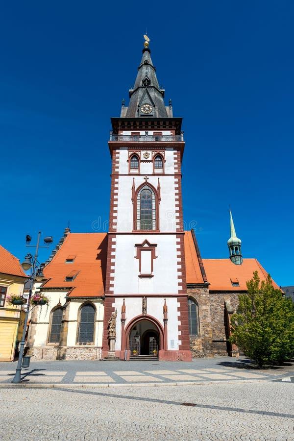 Torre Chomutov da cidade fotografia de stock