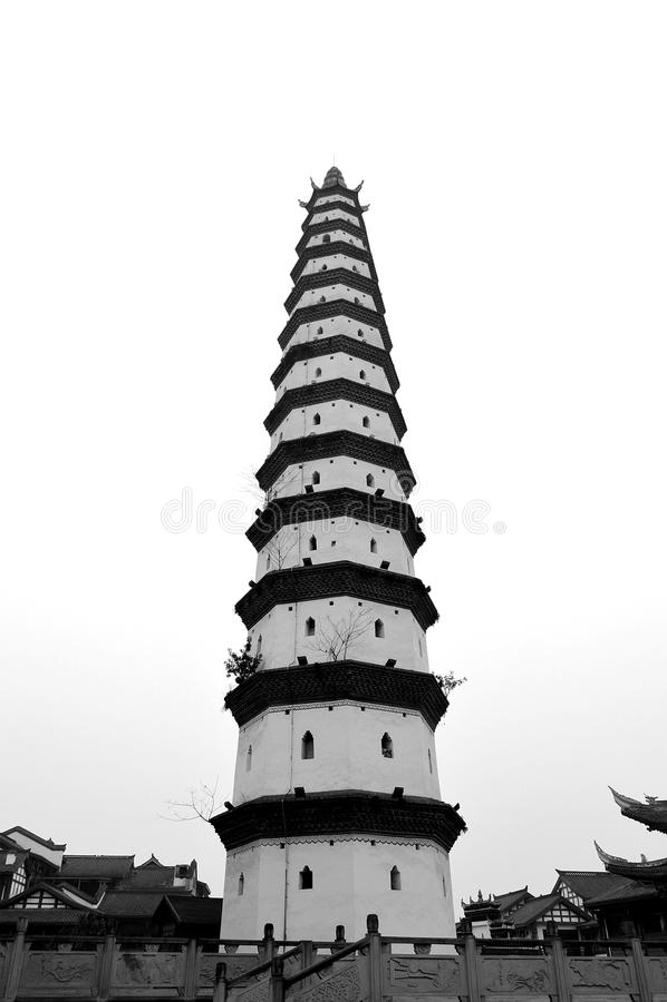 Torre cinese immagini stock libere da diritti