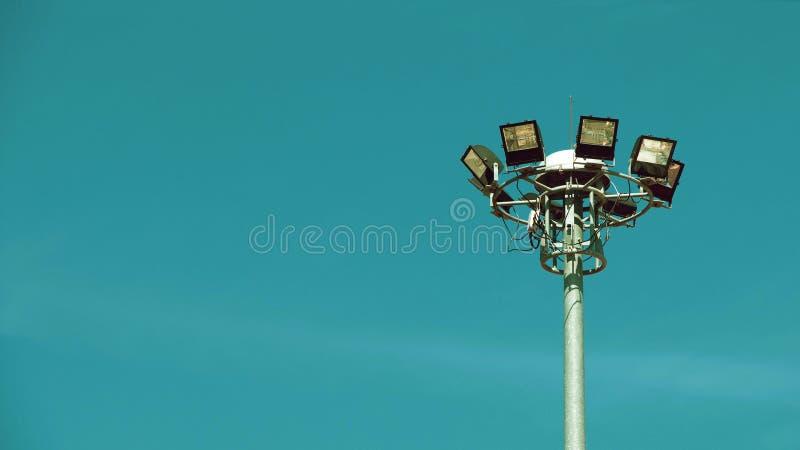 Torre clara do ponto no estádio do esporte imagem de stock royalty free