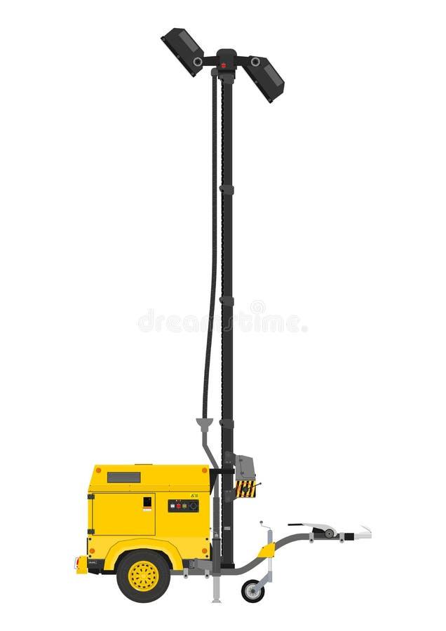 Torre clara móvel amarela ilustração royalty free