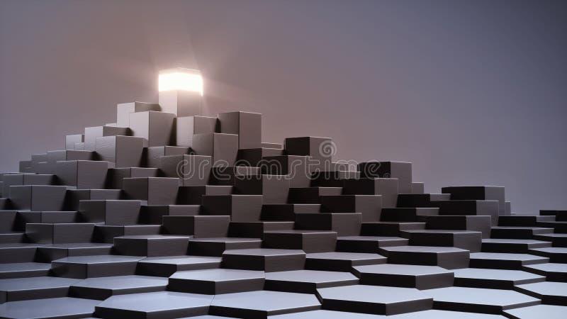 Torre clara original do conceito 3D ilustração stock