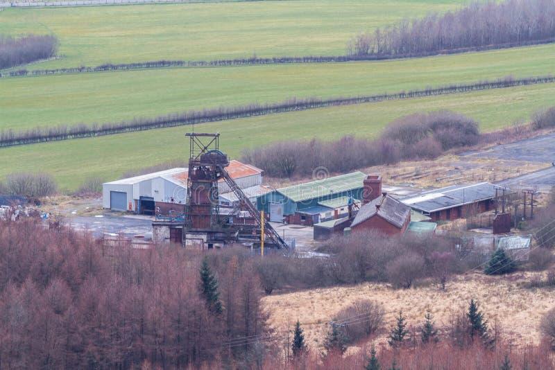 Torre Colliery desaproveitou a mina de carvão profunda South Wales, paisagem, zoom imagem de stock