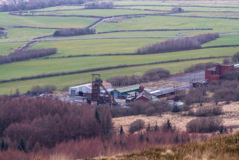 Torre Colliery desativou a mina de carvão profunda South Wales, paisagem foto de stock