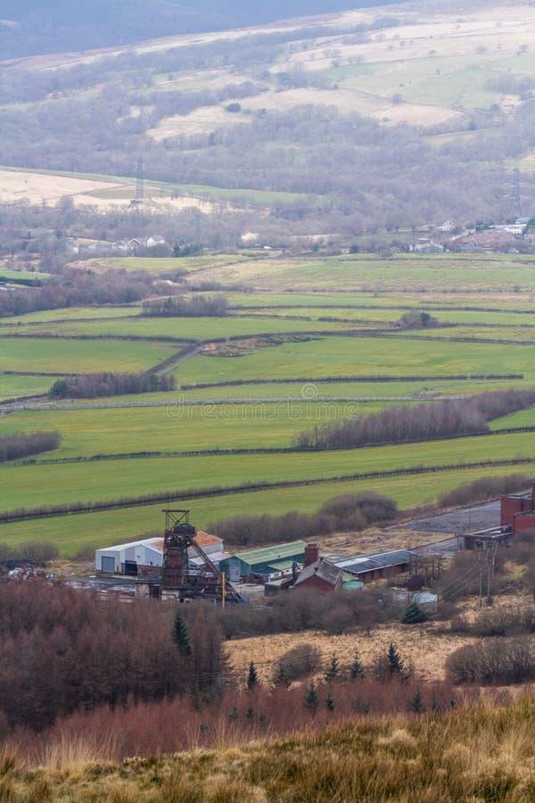 Torre Colliery desativou a mina de carvão profunda South Wales, retrato fotos de stock royalty free