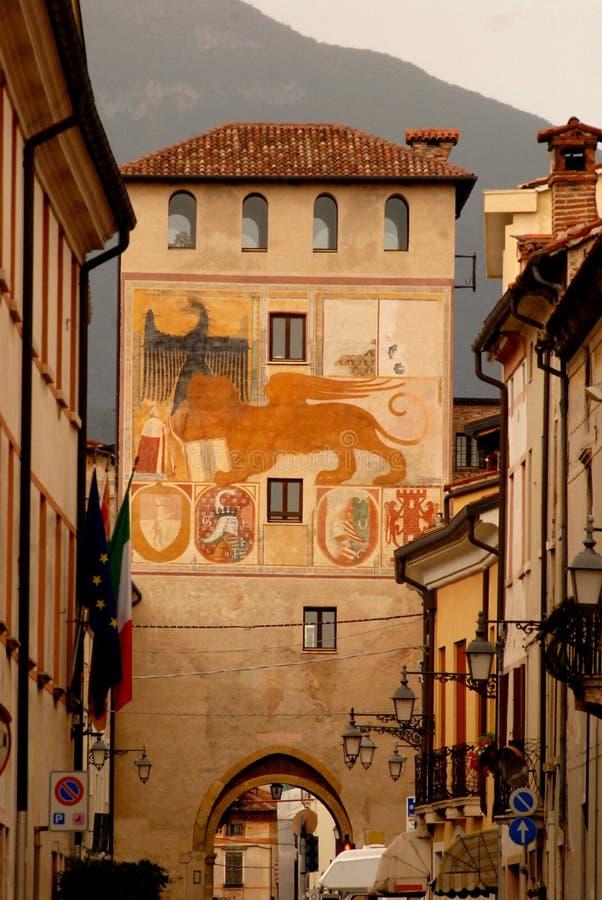 Torre coloreó imagen de archivo libre de regalías
