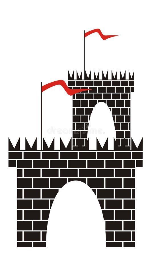 Torre con una puerta stock de ilustración