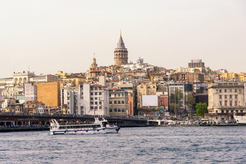 Torre Costantinopoli Turchia di Galata fotografia stock
